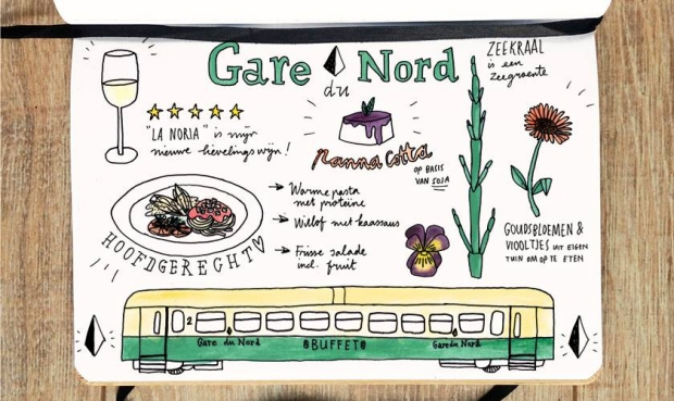 Gare du Nord veganist menu go with the vlo