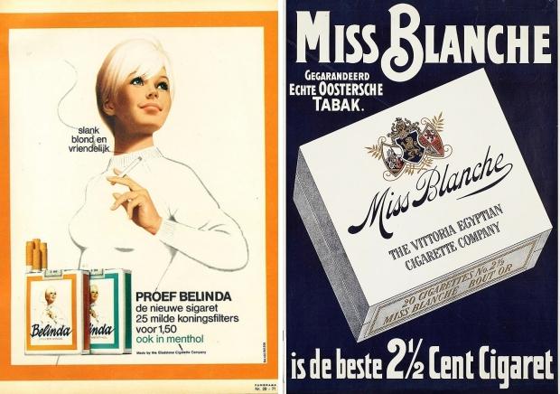 Vintage sigaretten Belinda Miss Blanche