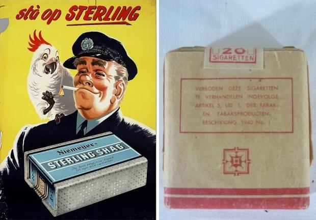 Vintage sigaretten Sterling kringloop go with the vlo