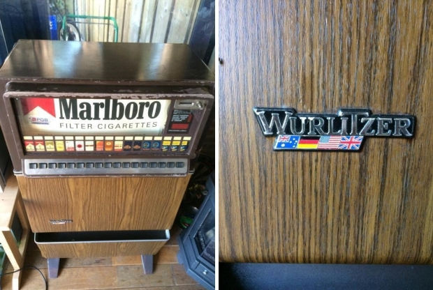 Vintage sigarettenautomaat Wurlitzer go with the vlo