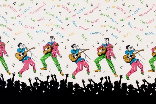 Pop Art Elvis Textielmuseum go with the vlo