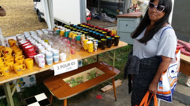 Sixties tafel Temploux brocante go with the vlo