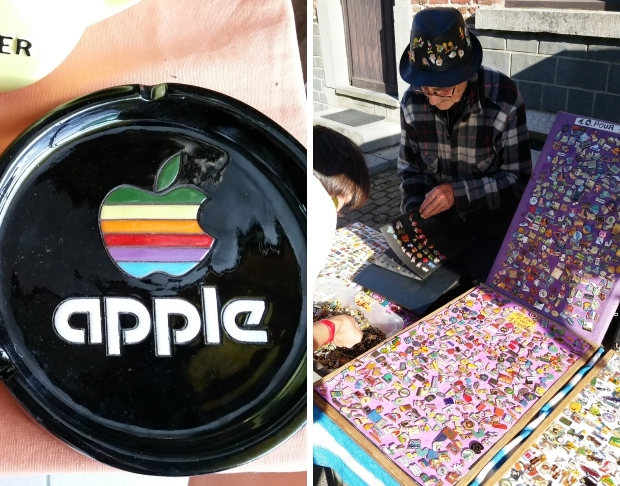 Temploux antiekmarkt Apple go with the vlo