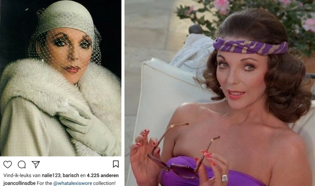 Joan Collins what Alexis wore Dynasty go with the vlo