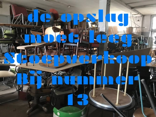 Nummer13 Rotterdam opslag vintage stoelen go with the vlo