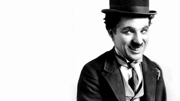 Charlie Chaplin veiling Debbie Reynolds