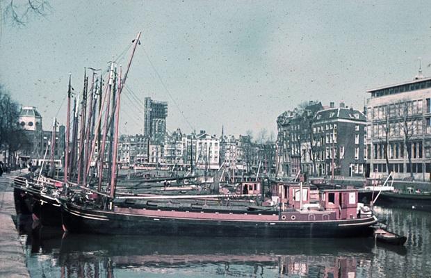 Leuvehaven Rotterdam kleurenfoto