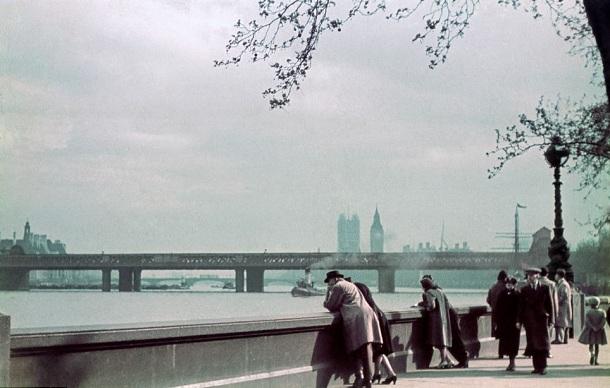 Londen kleurenfoto 1939