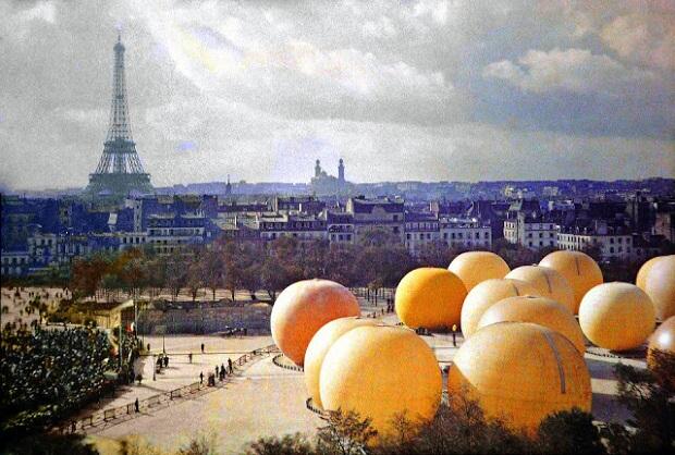Parijs Eiffeltoren kleur 1914