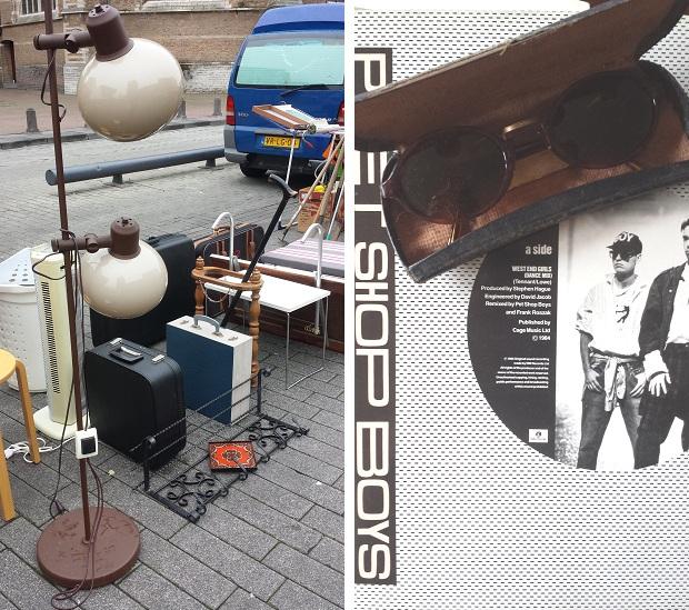 Rommelmarkt Binnenrotte Rotterdam Pet Shop Boys lamp