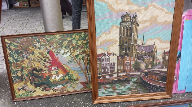 Rotterdam rommelmarkt Binnenrotte schilderijen