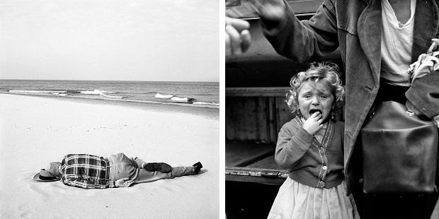 Vivian Maier strand en huilend meisje