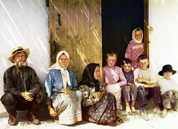 sergei mikhailovich prokudin gorskii kleurenfoto familie