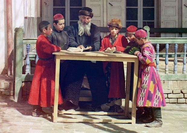 sergei mikhailovich prokudin gorskii kleurenfoto groepje