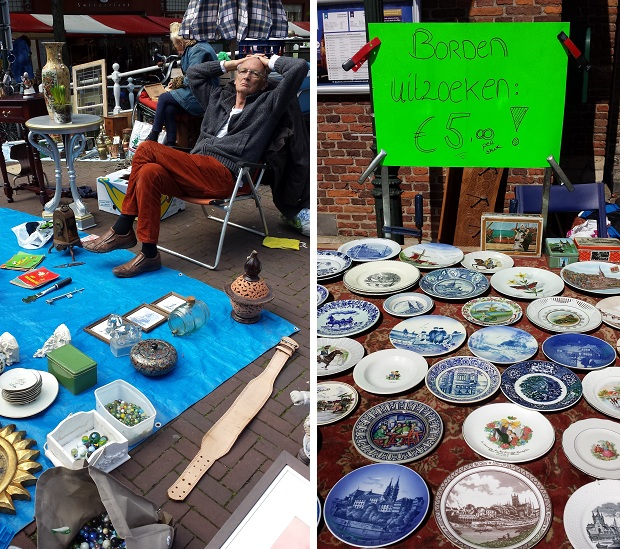 Delft antiek en curiosamarkt goedkope borden