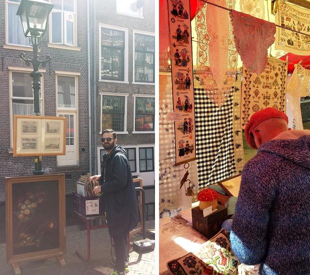 Delft antiek en curiosamarkt schilderijen en kant