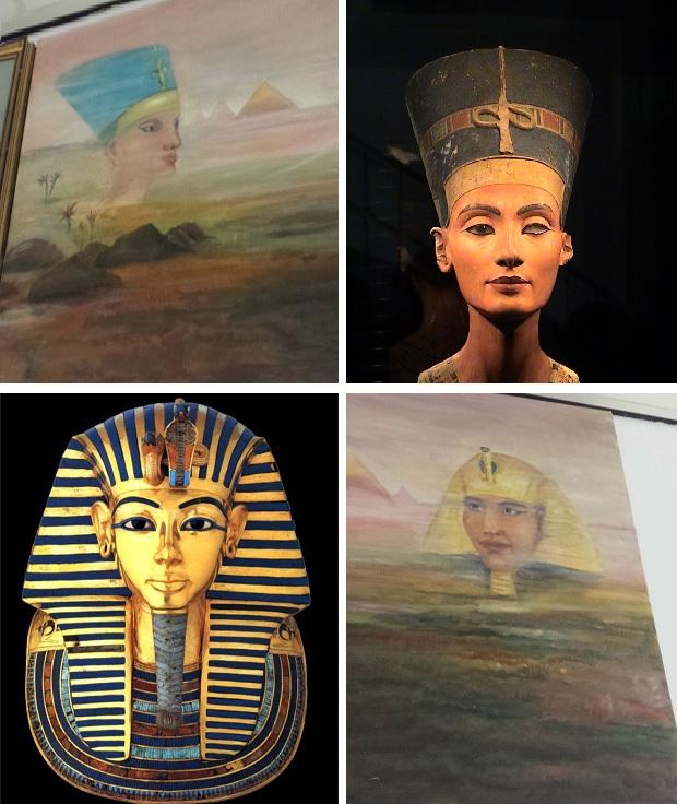 Egyptisch schilderij Kringloop Vlaardingen 2