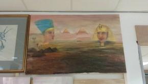 Egyptisch schilderij Kringloop Vlaardingen