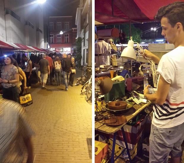 Tilburg Meimarkt Go with the vlo nachtmarkt lampje op het hoofd