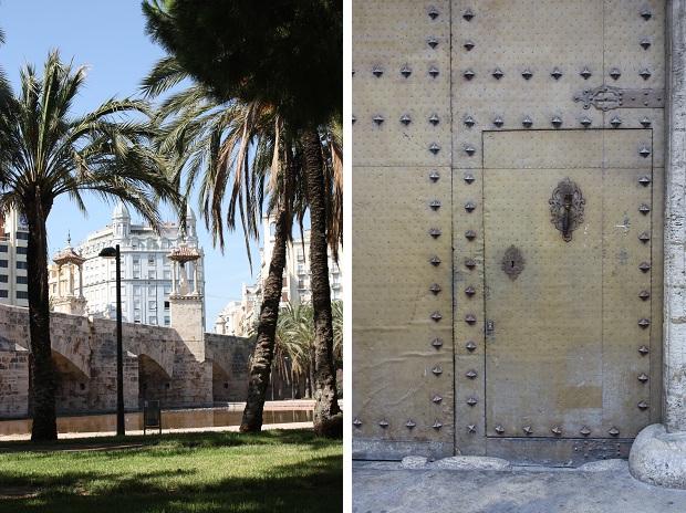 Valencia oude stad deur