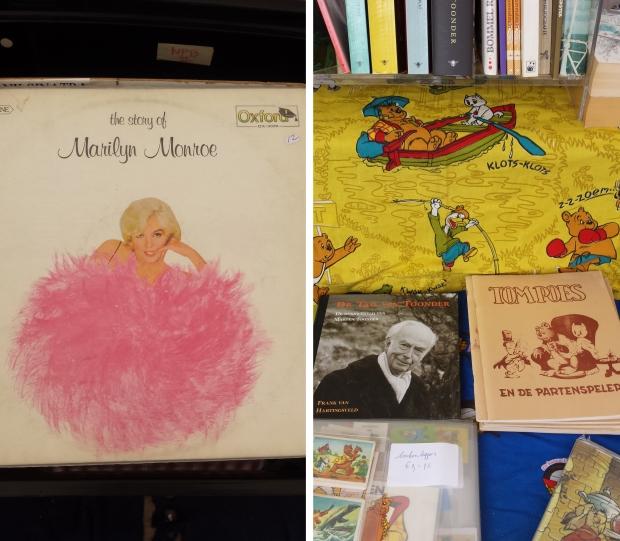 Boekenmarkt Dordrecht Marilyn Monroe en Tom Poes