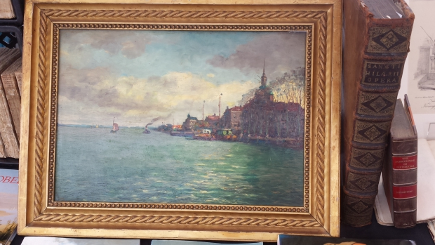 Dordrecht boekenmarkt schilderij
