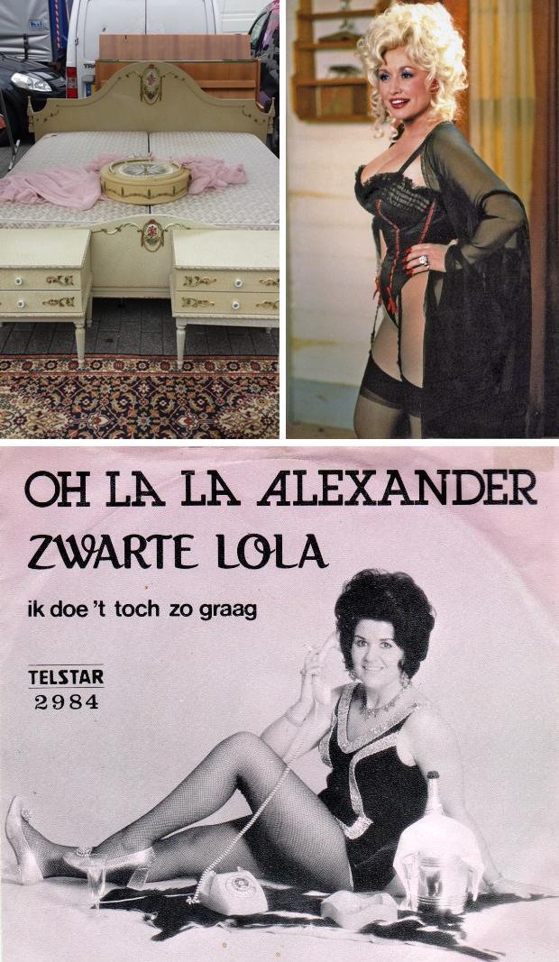 Hoerenbed Rotterdam rommelmarkt Binnenrotte Dolly Parton en Zwarte Lola
