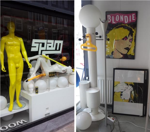 Spam vintage design Rotterdam Blondie gevel