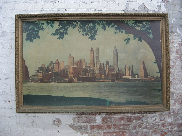New York Antiques Garage skyline