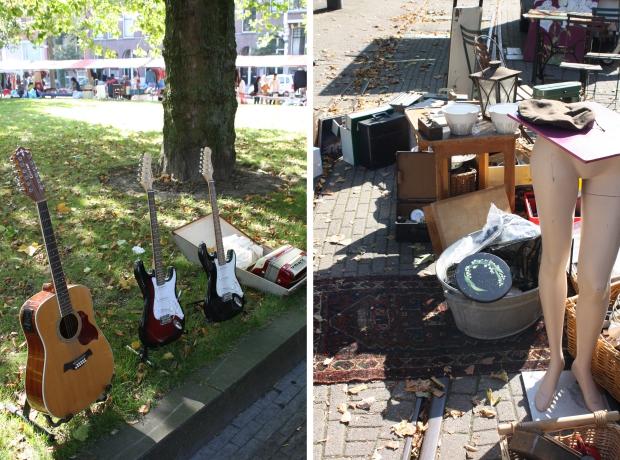 Rommelmarkt Heemraadsplein Rotterdam gitaren
