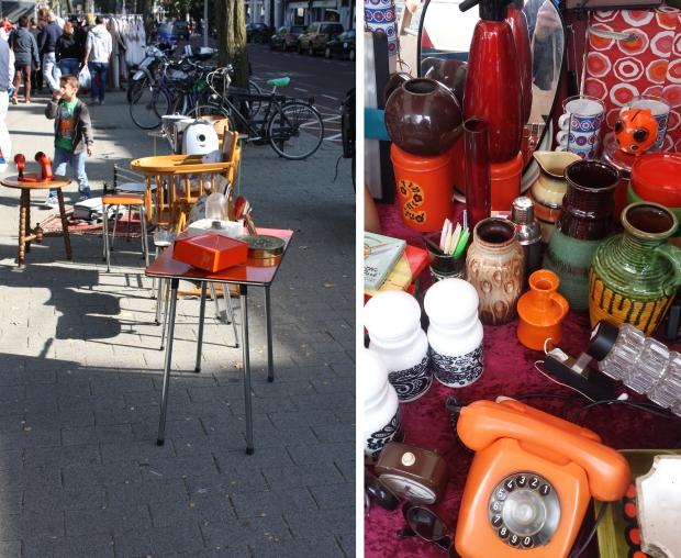 Rommelmarkt Heemraadsplein Rotterdam seventies