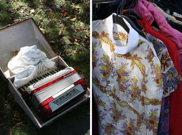 Rommelmarkt Heemraadsplein accordeon kleding