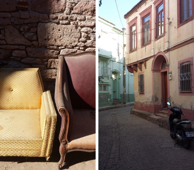 Ayvalik antiekbuurt oude Griekse huizen