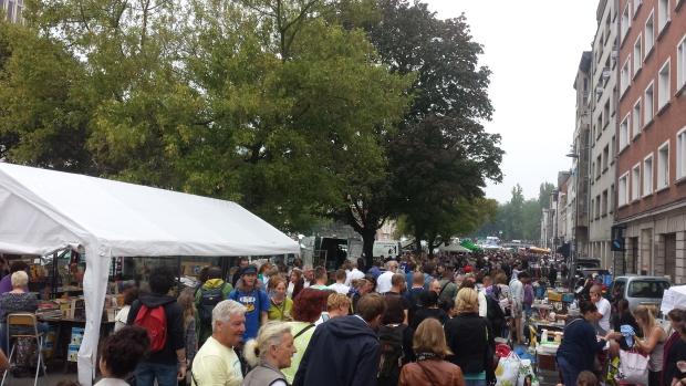 Braderie de Lille mensenmassa