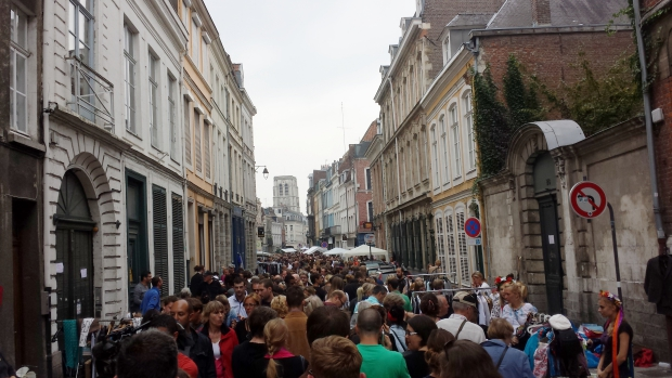 Braderie de Lille straatbeeld Oud-Lille