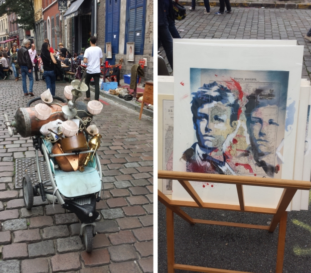 Braderie de Lille straatbeelden