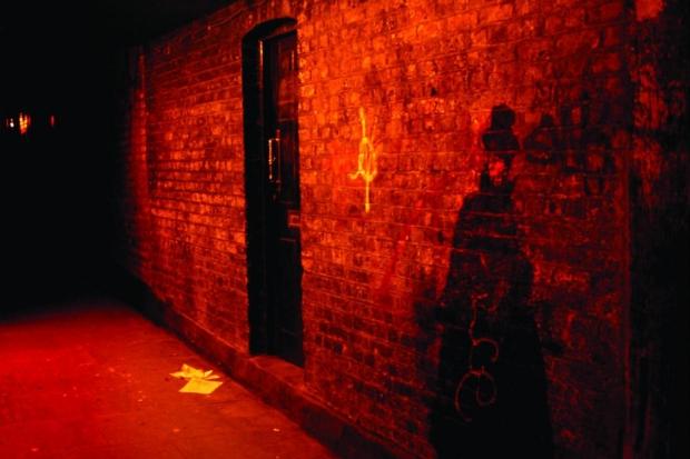 Jack the Ripper straat bloed
