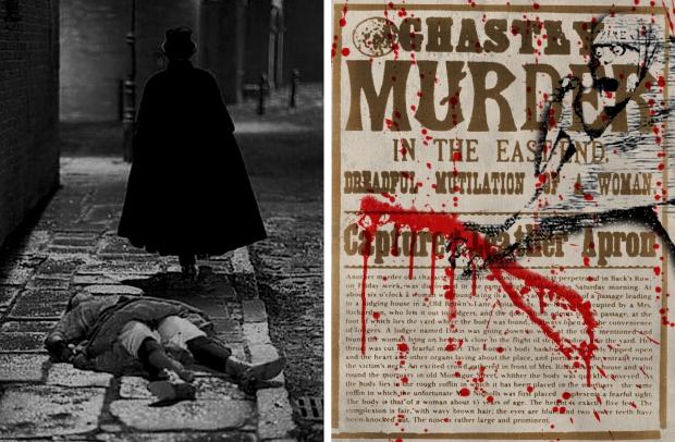 Jack the Ripper wandeling bloed