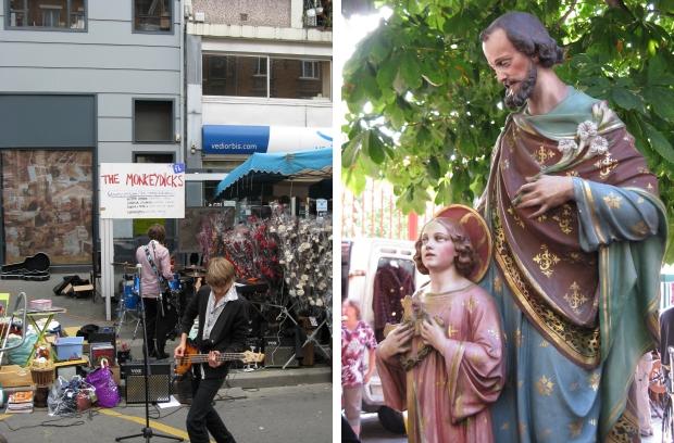 Lille rommelmarkt bandje Christusbeeld
