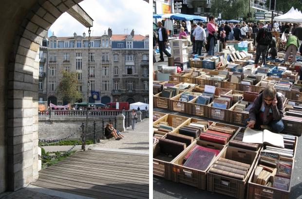 Lille rommelmarkt straatbeeld