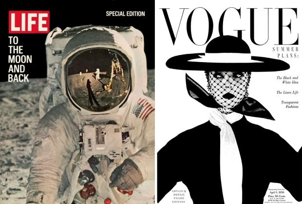 Life Vogue zwart wit tijdschriften