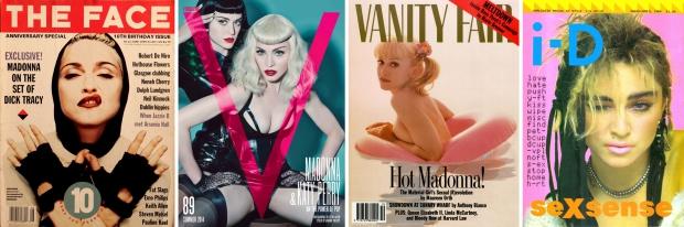 Madonna vier covers tijdschriften