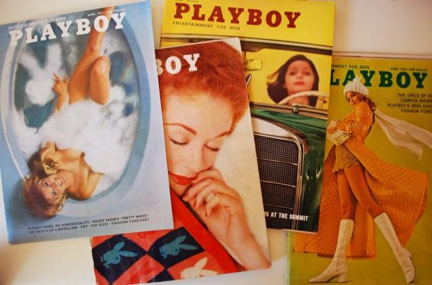 Oude Playboys tijdschriften