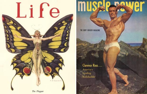 Oude tijdschriften covers bodybuilder