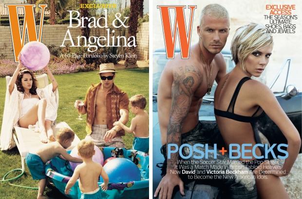 W magazine Jolie Pitt Beckham