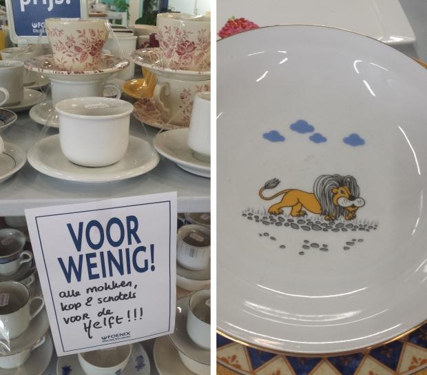 Kringloopwinkel Foenix Apeldoorn serviesgoed