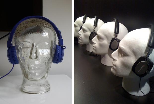 Retro hoofden koptelefoon