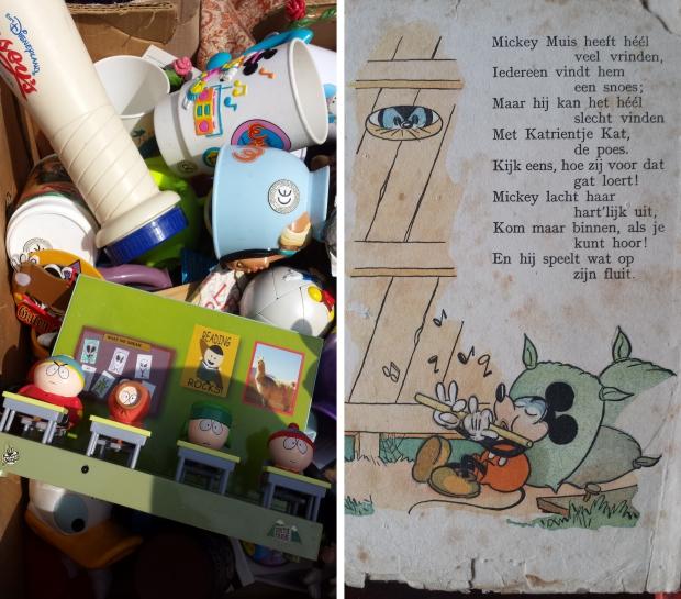 Vintage Mickey Mouse rommelmarkt Vlaardingen