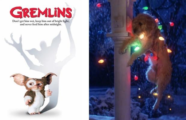 Gremlins kerstfilm hond