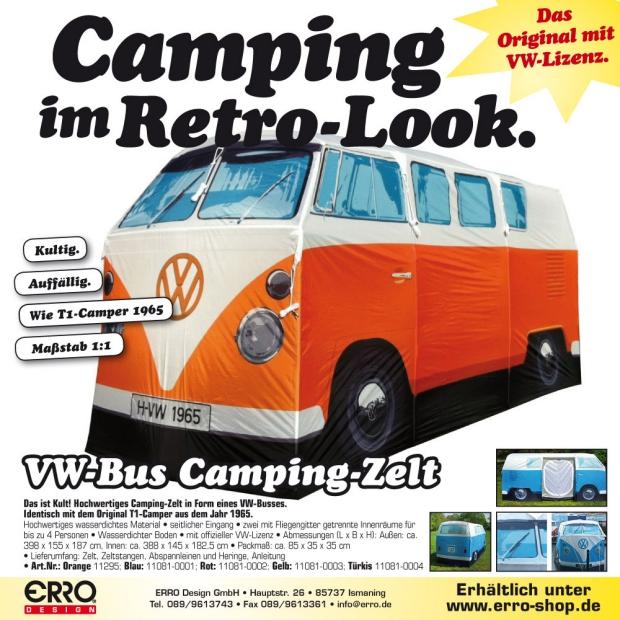 Volkswagen tent oranje